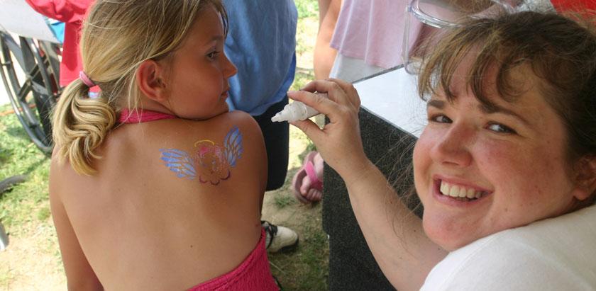Book airbrush tattoos