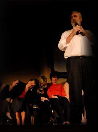 Clean Hypnotist Chuck King on stage.