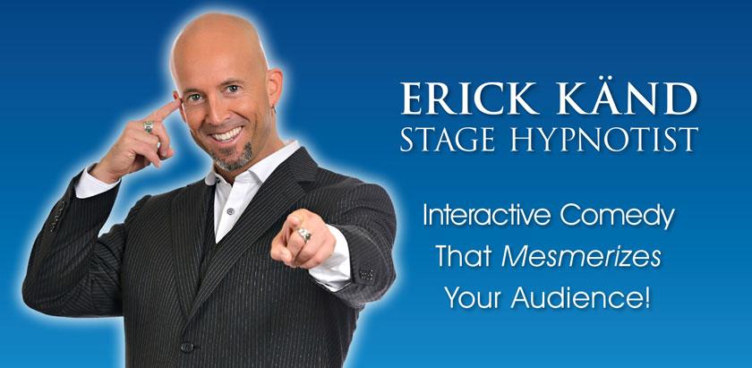 Book hypnotist Erick Kand