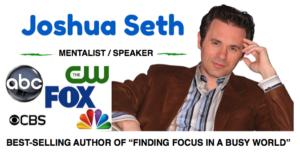 Book mentalist Joshua Seth