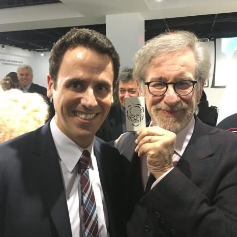 Oz Pearlman with Steven Spielberg