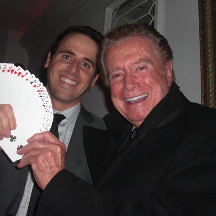 Oz Pearlman with Regis Philbin