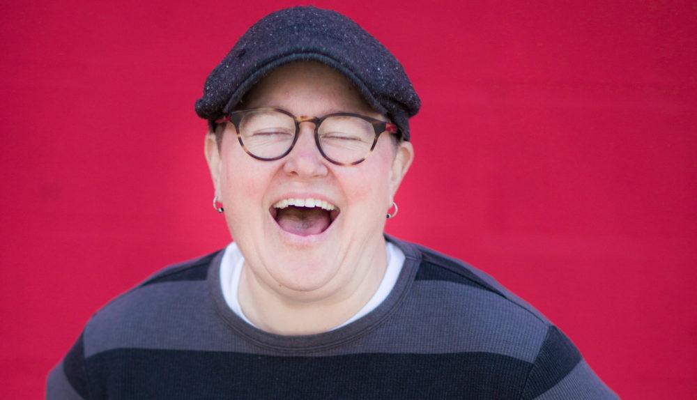 Comedian Maggie Faris Laughing
