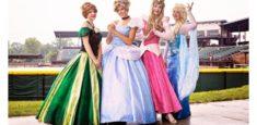Princess' at the Ball Park Roving Characters