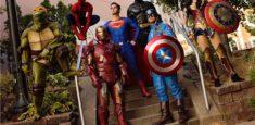 Roving Hero Characters: Ninja Turtles, DC Super Heros and Marvel Super Heros