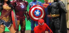 Super Hero Group: Wonder woman, Iron Man, Capatain America, Super Man, Bat Man, Spider Man