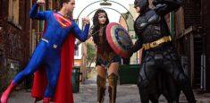 Superman, Wonderwoman, Batman