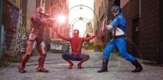 Iron Man, Spiderman, Captain America